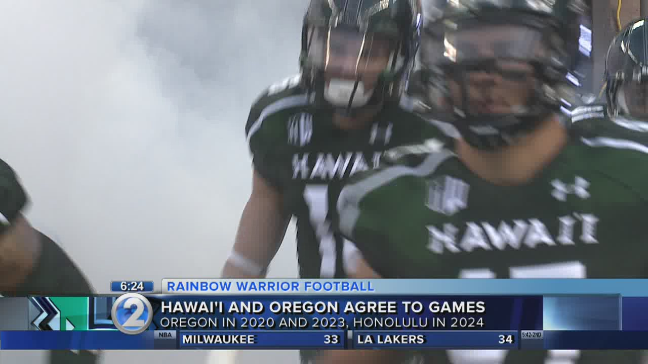 Hawaii to play Oregon in three-game series