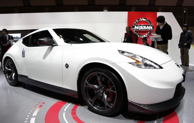 In this Nov. 20, 2013 file photo, a Nissan Fairlady Z NISMO is displayed at the media preview for the Tokyo Motor Show at Tokyo Big Sight convention hall in Tokyo. Yutaka Katayama, a former president of Nissan Motor Co.'s U.S. unit who built the Z...