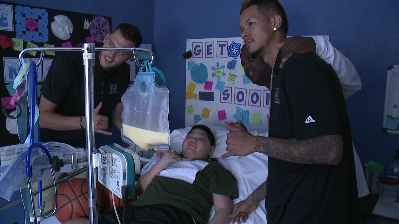 rainbow warriors visit cancer student_80650
