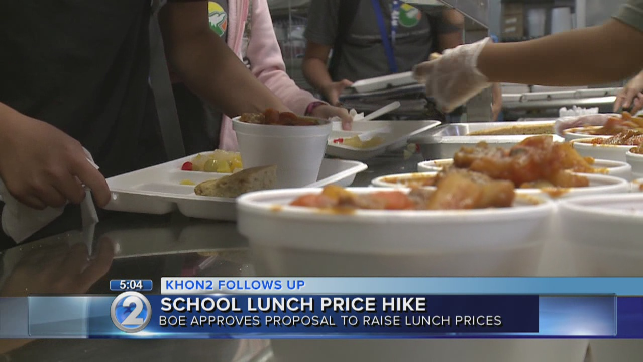 BOE committee approves school meal price increase