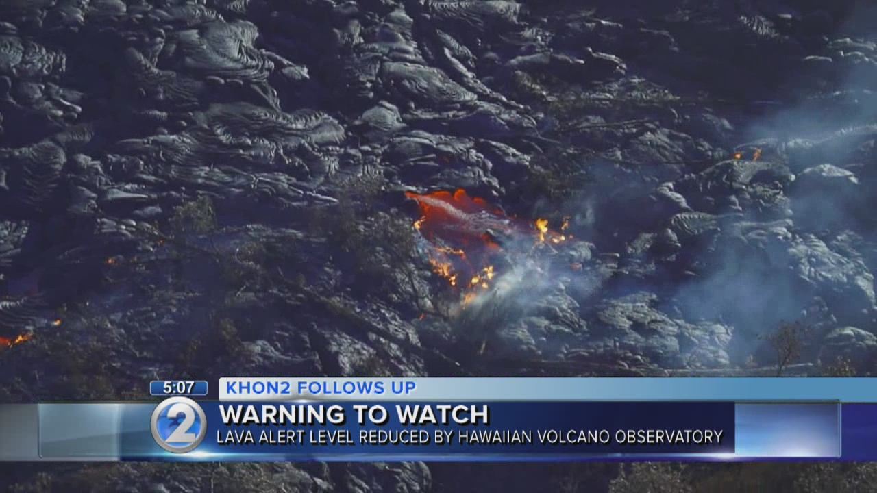 HVO downgrades Kilauea alert level from warning to watch