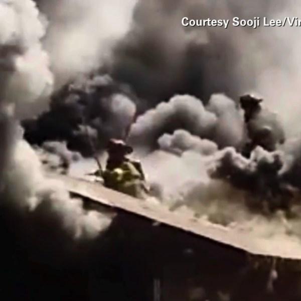 firefighter falls through roof_86287