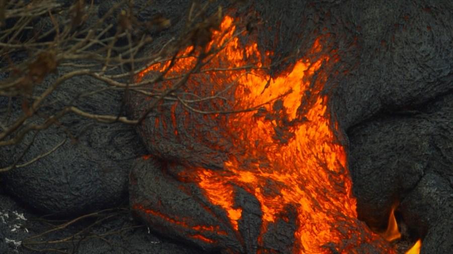 kilauea facing the fire lava