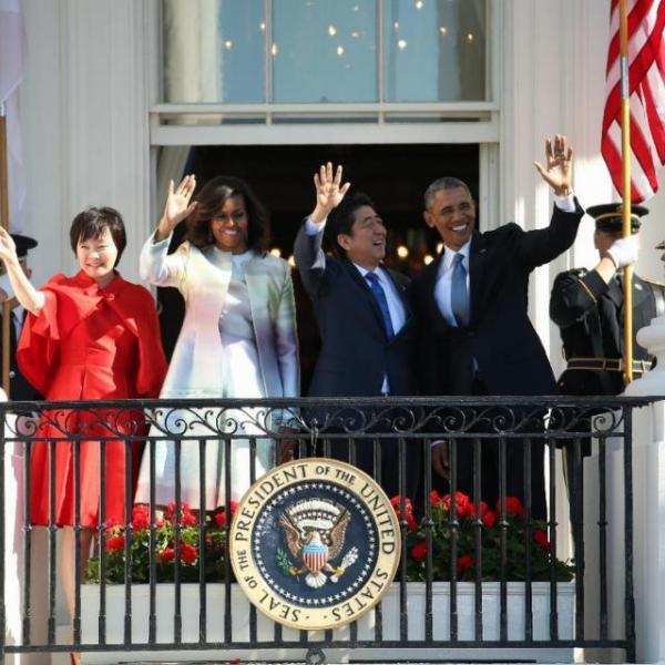 Barack Obama, Shinzo Abe, Michelle Obama, Akie Abe_91713