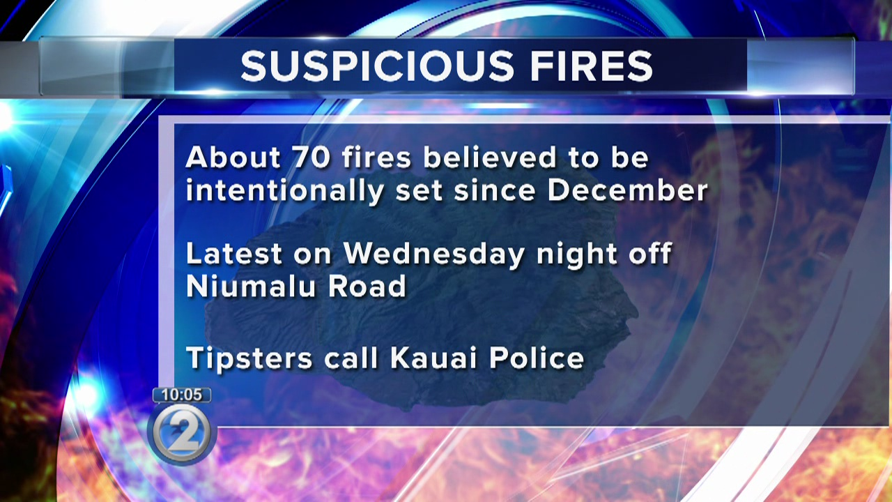 Police search for arsonist on Kauai