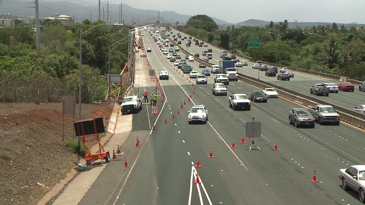 H-1 westbound new lane_92403