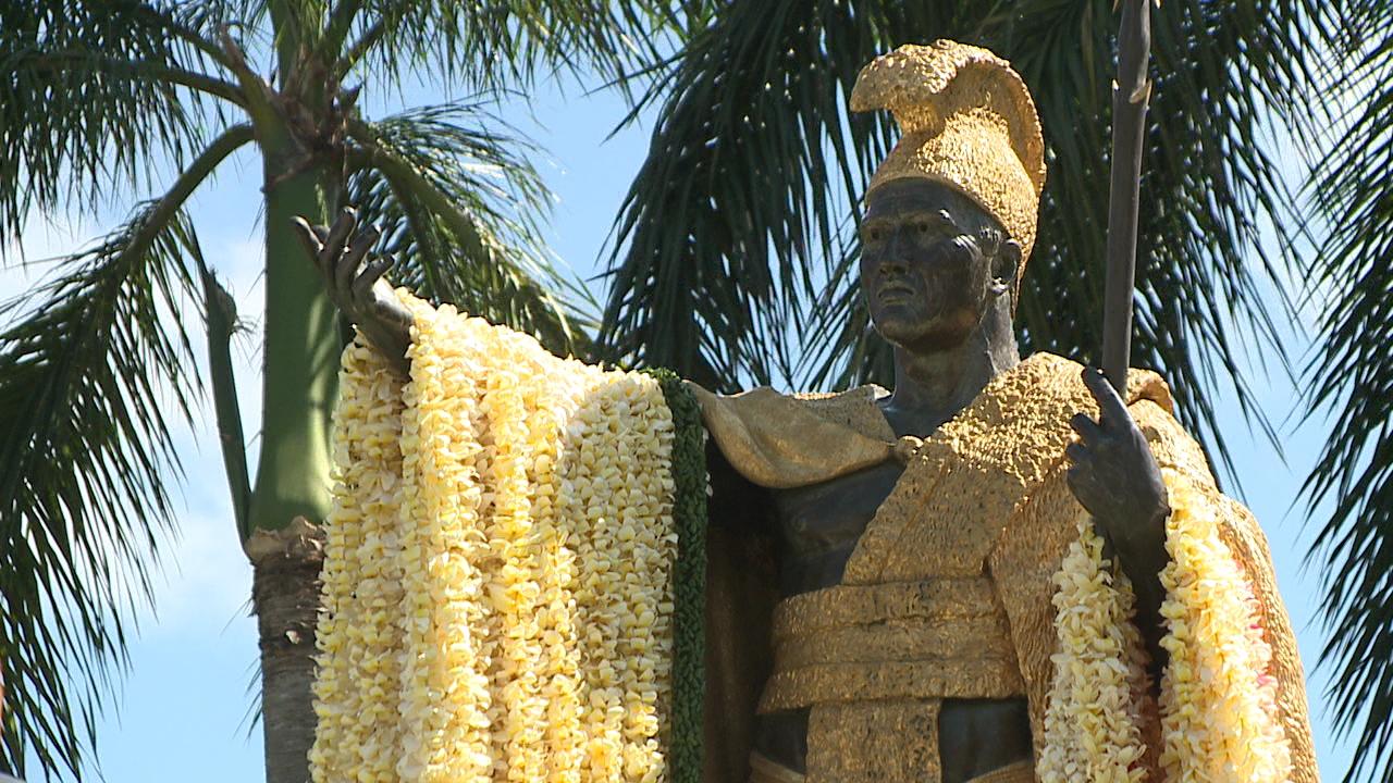 king kamehameha statue lei draping_99766