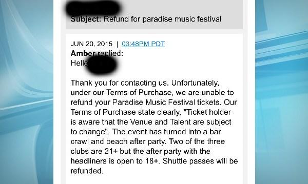 ticket refund problem_101432