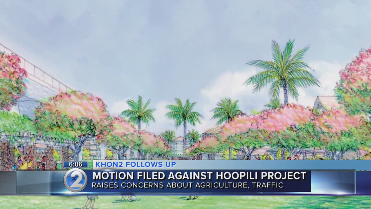 Group files motion to block Hoopili development in West Oahu