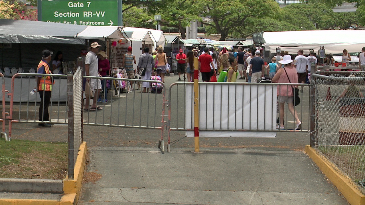 aloha stadium swap meet fence_105426