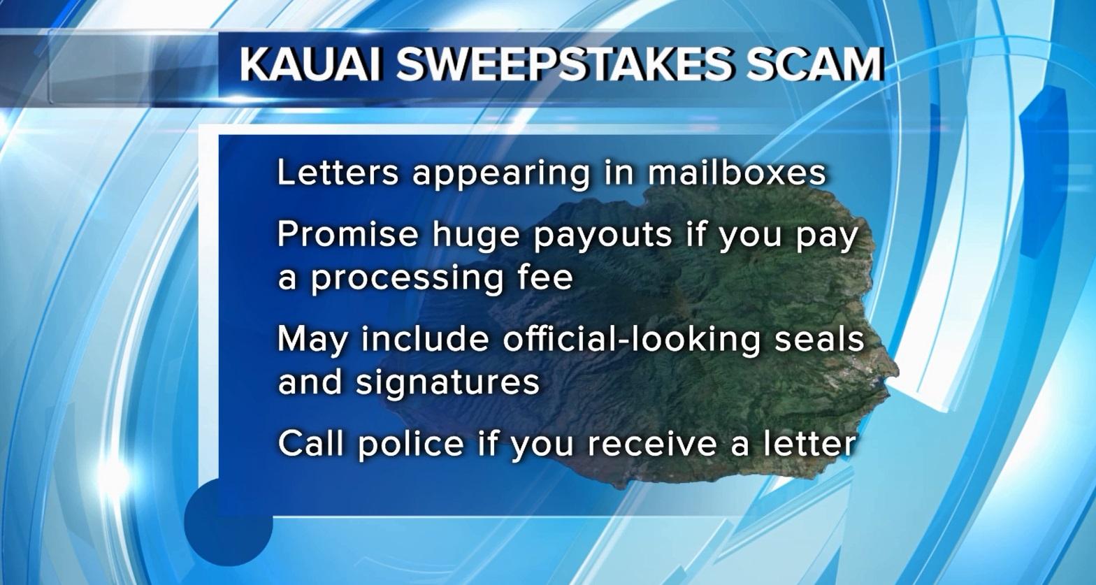 kauai sweepstakes scam fullscreen_115235