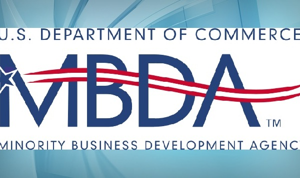 commerce minority business logo over background_122700