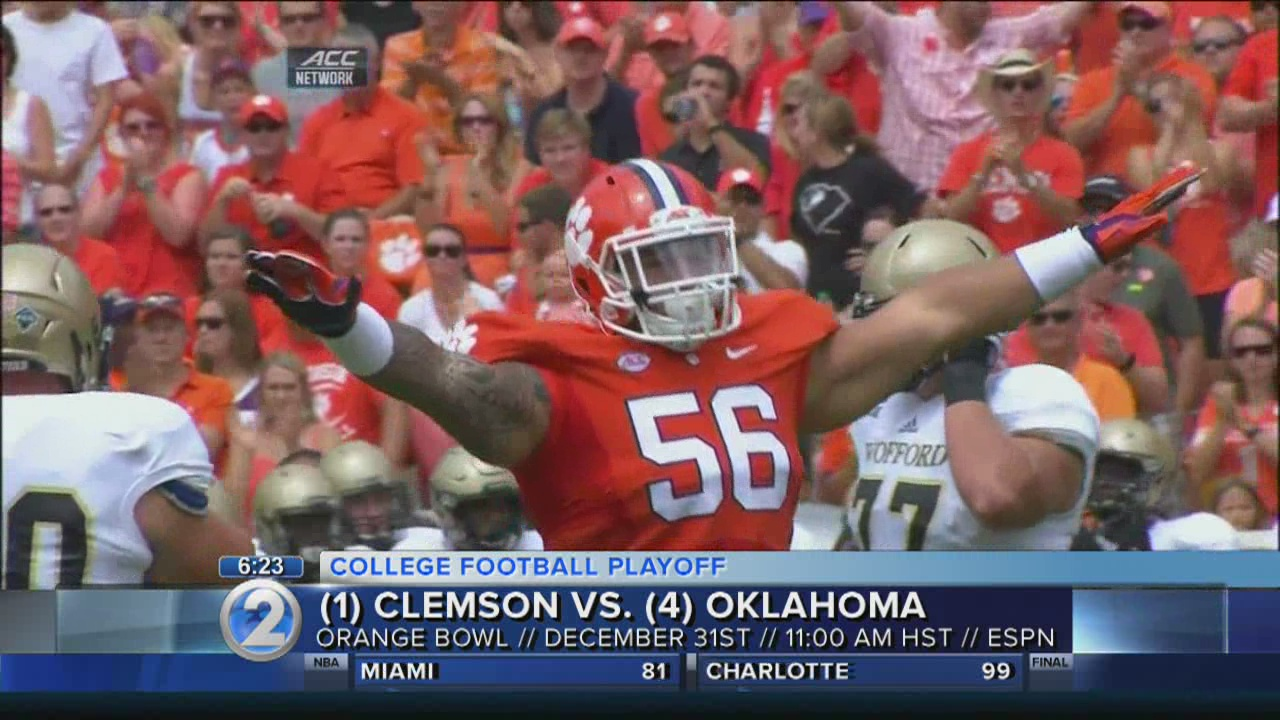 Moanalua grad, Clemson DT Pagano 'stoked' for Orange Bowl, College Football Playoff
