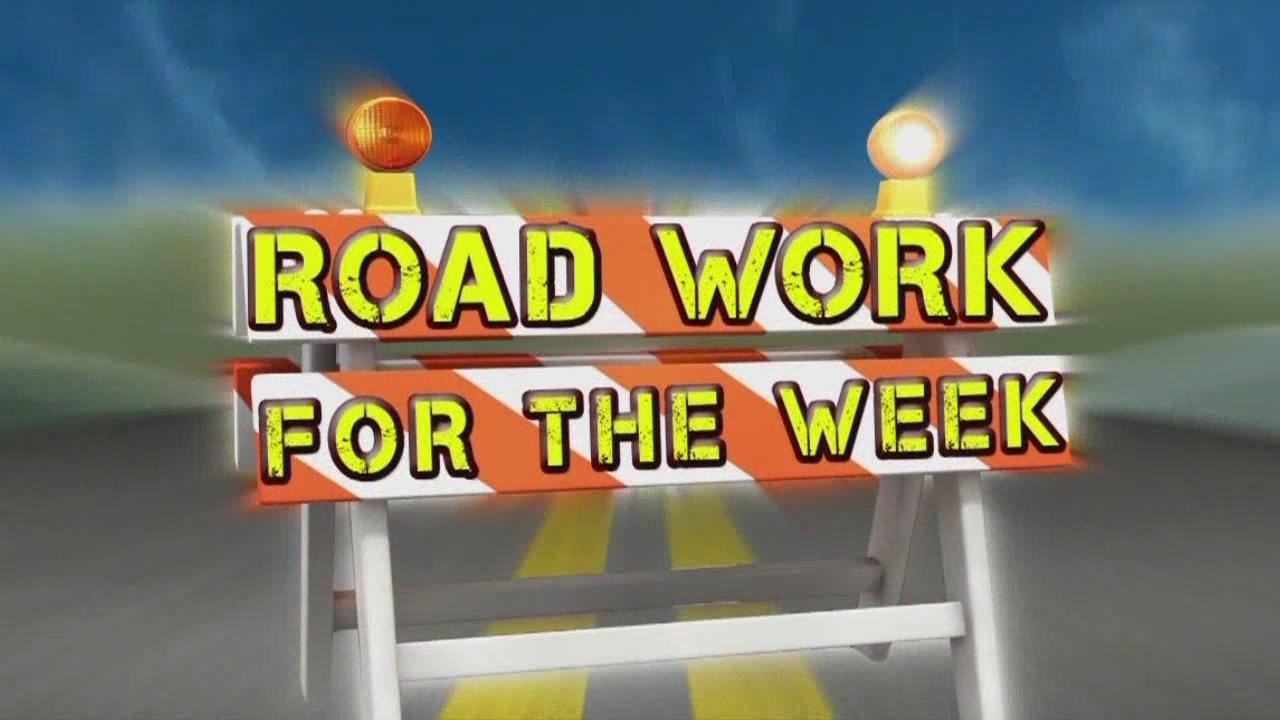 Road Work for the Week, Dec. 25-Jan. 1