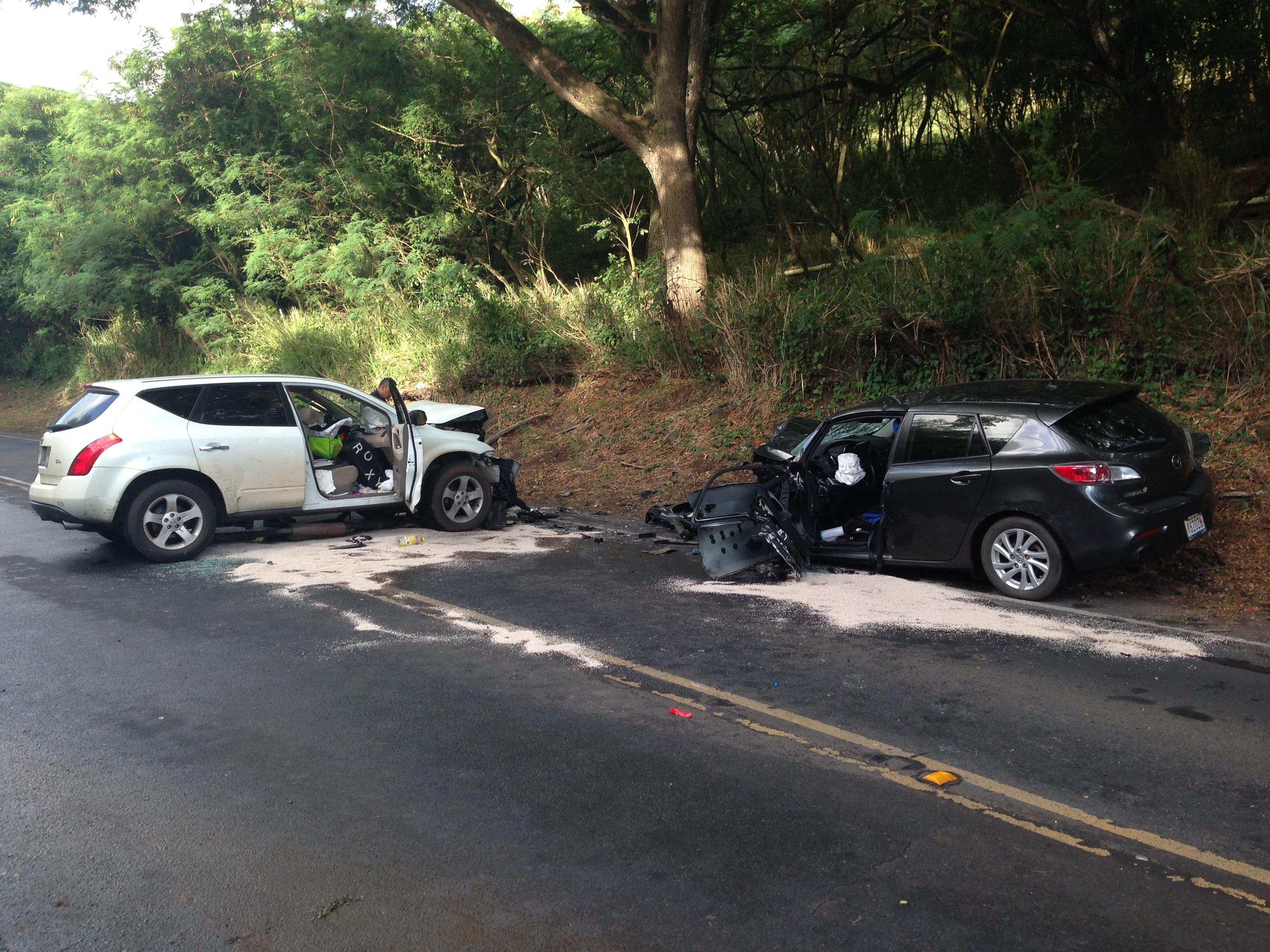 Kamehameha Highway Kualoa Ranch crash