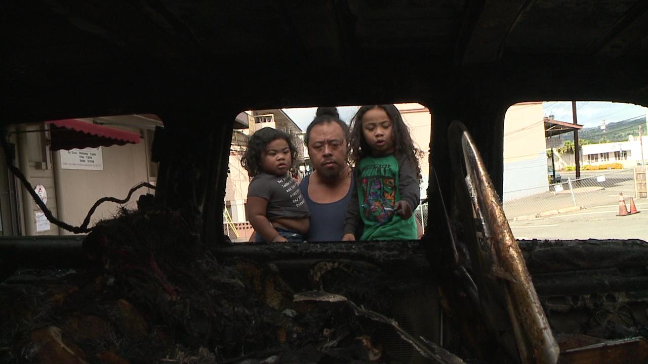 kalihi family survives SUV fire_135635