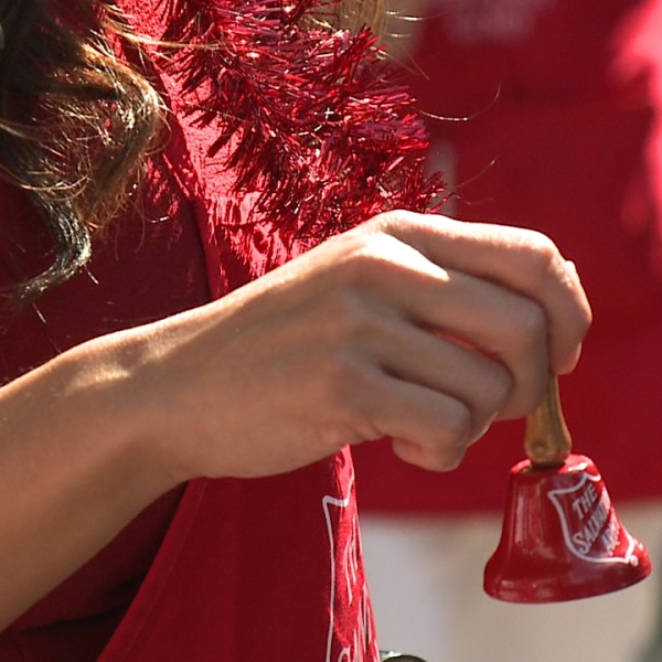 salvation army bell ringer red kettle_135178
