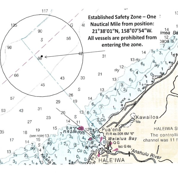 Coast Guard to enforce safety zone off North Shore, Oahu_139547