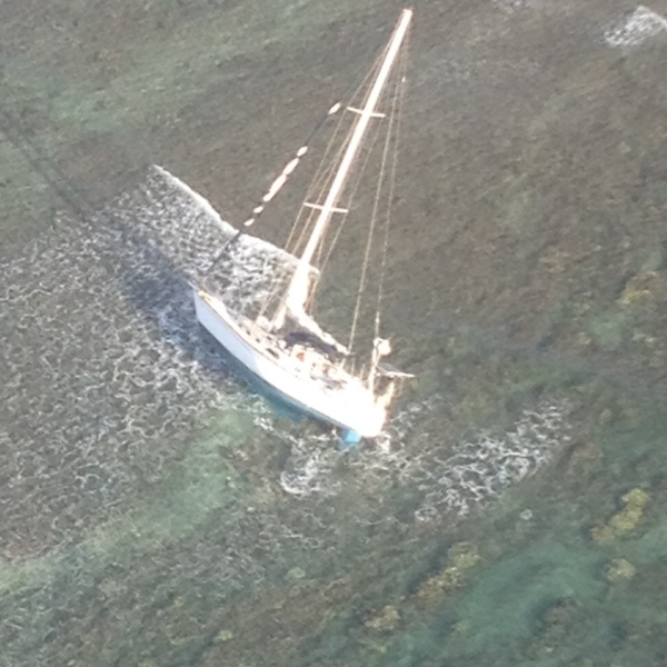 Coast Guard rescues two from grounded sailboat near Molokai_141779