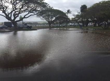 haleiwa alii beach park flooding_144403