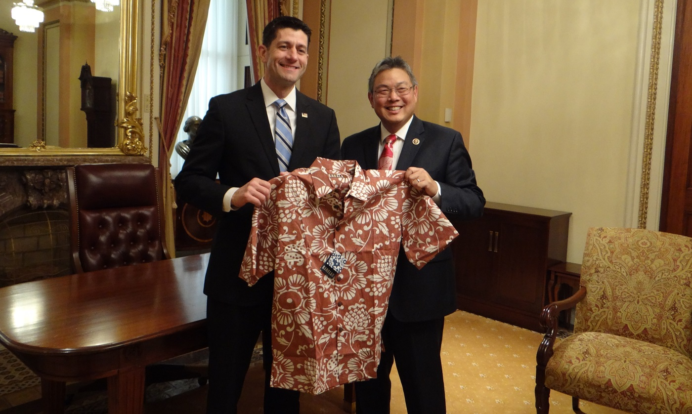 Paul Ryan Mark Takai Aloha shirt_142951