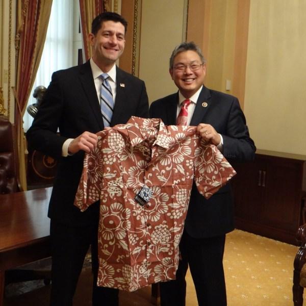 Paul Ryan Mark Takai Aloha shirt_142951