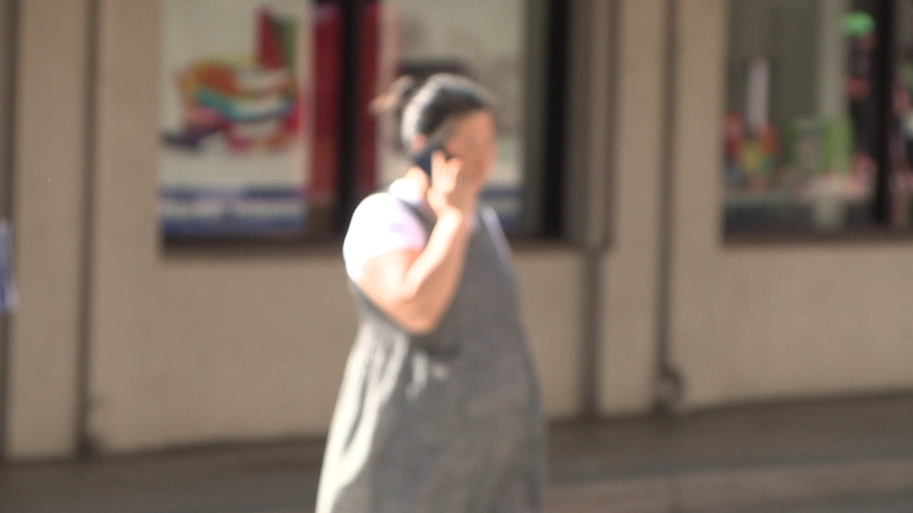 pedestrian cell phone crosswalk_142606