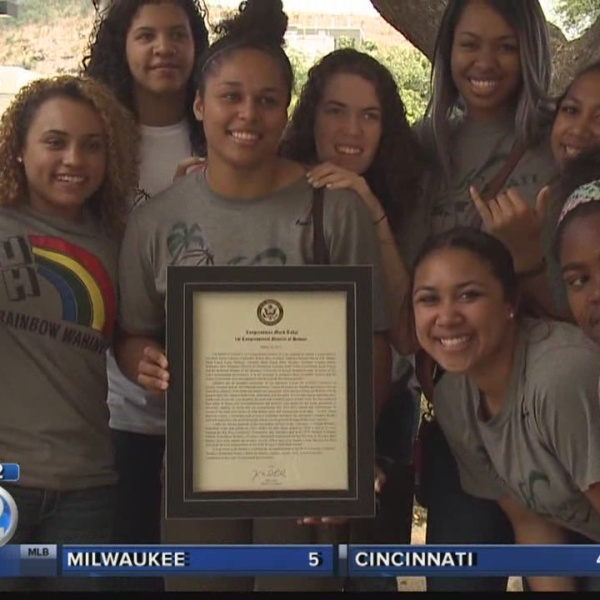 Winning basketball teams honored by University of Hawaii, governor