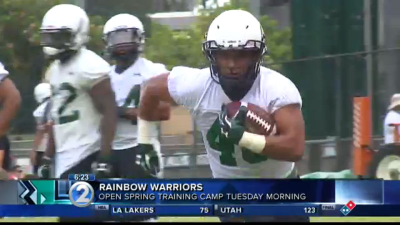 Bows, beat writer Stephen Tsai return for spring football training camp