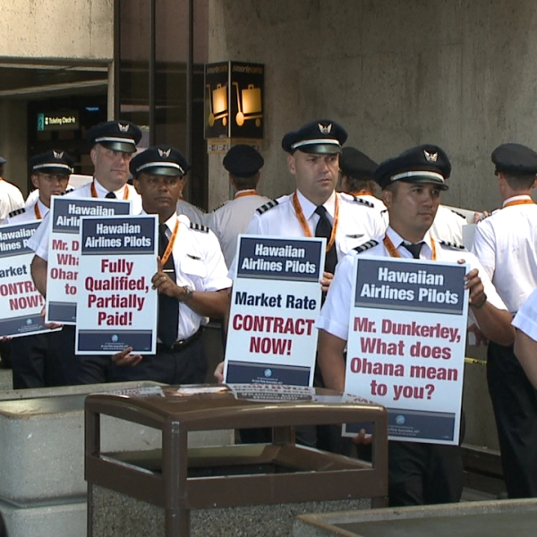 Hawaiian Airline pilots picket_148043