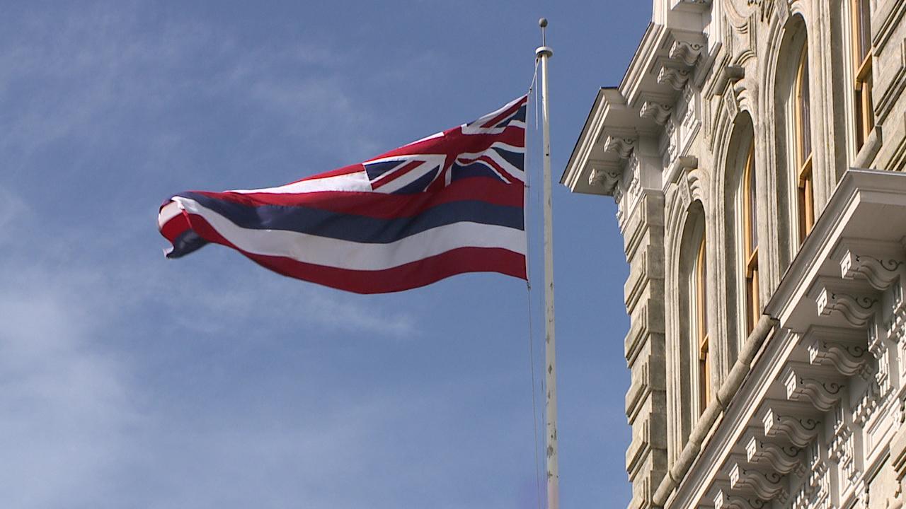 hawaiian flag iolani palace_128742