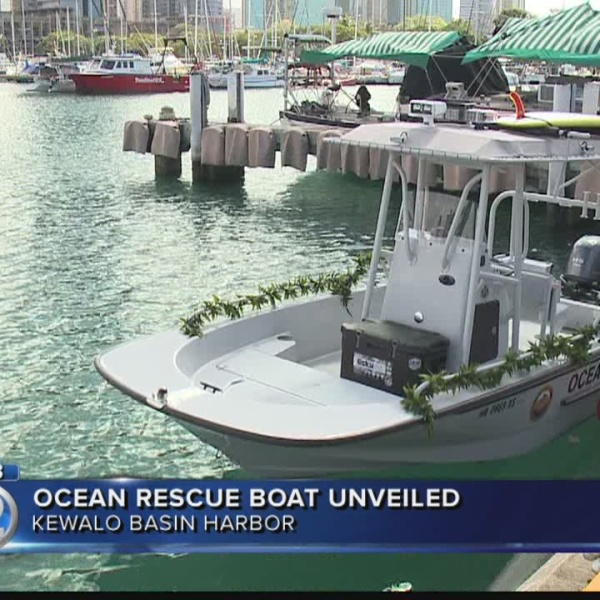 New boat enhances ocean safety response along Oahu's south shore