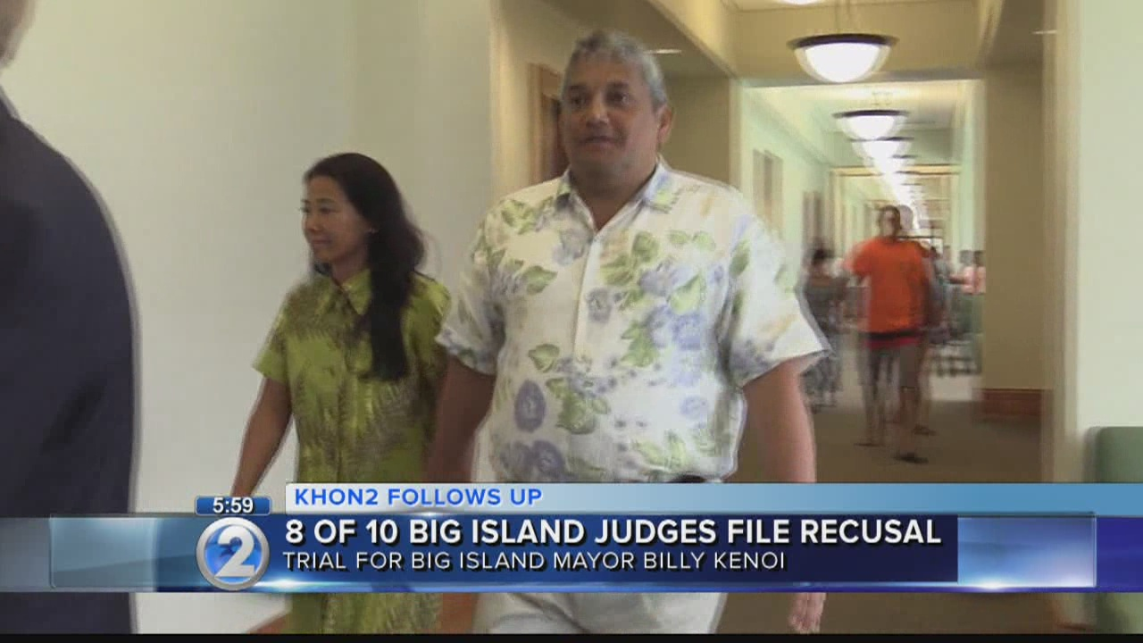 Judges recuse themselves from Hawaii mayor's theft case