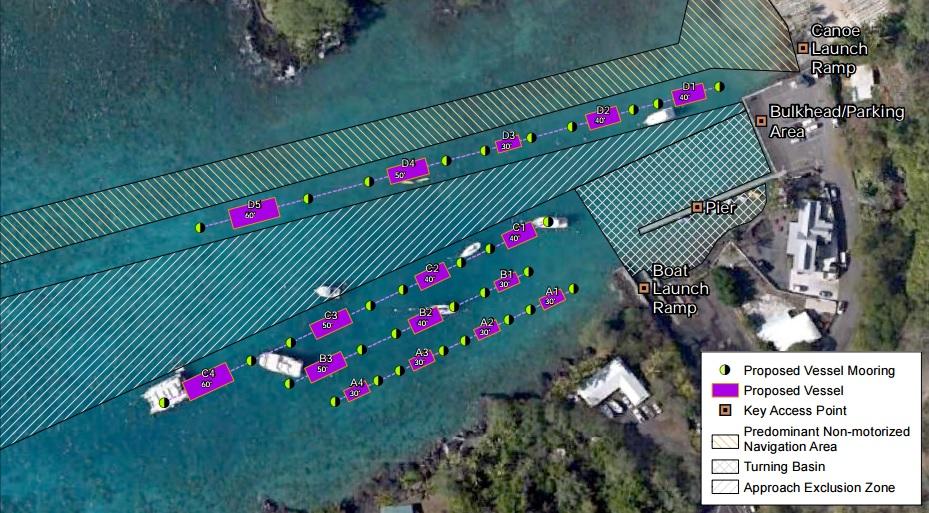 keauhou bay offshore mooring map_151275