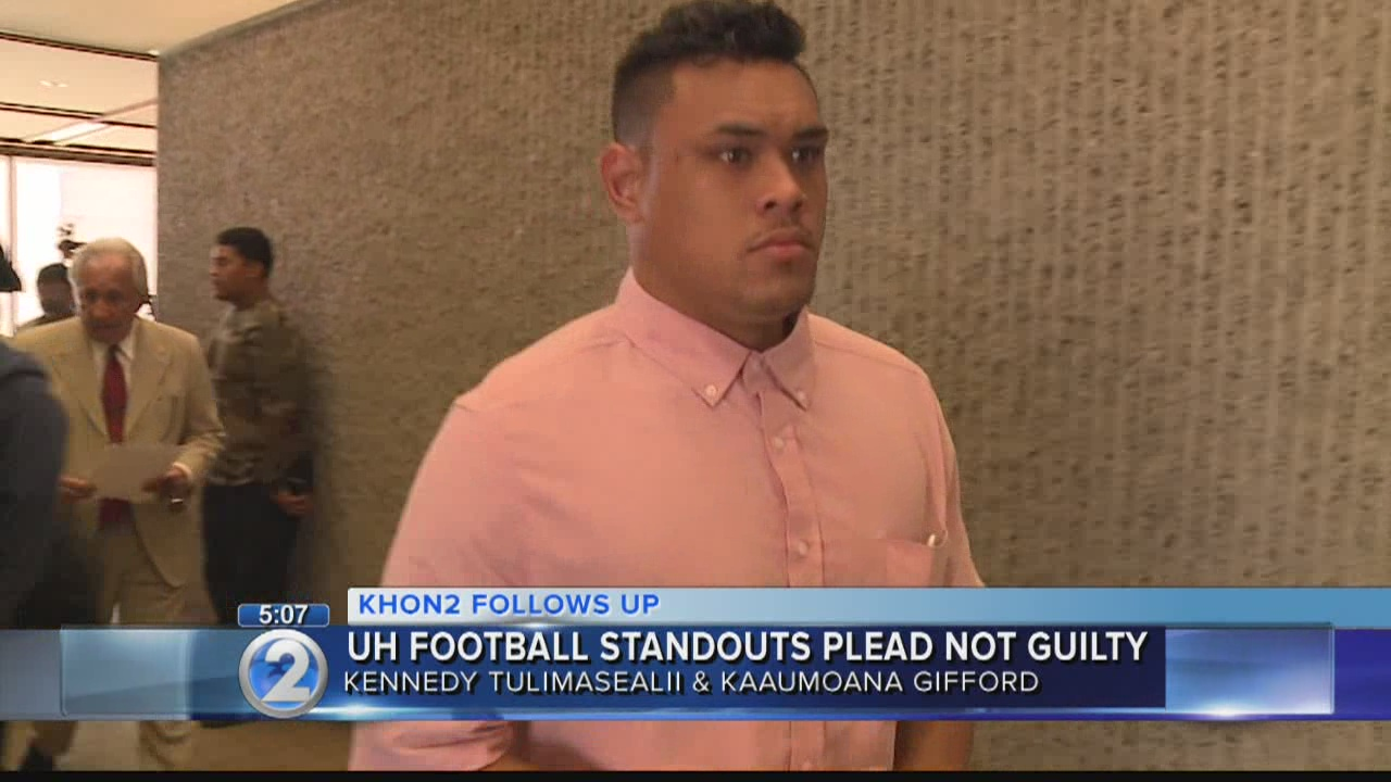 UH football standouts plead not guilty to charges