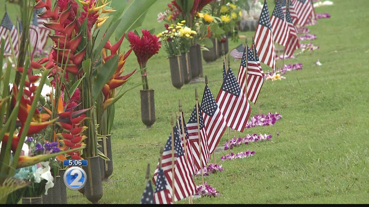 Families, ceremony honor military at Punchbowl this Memorial Day