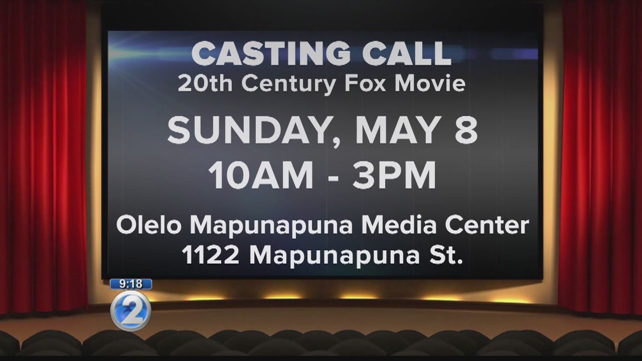 Action-comedy film holds casting call on Oahu
