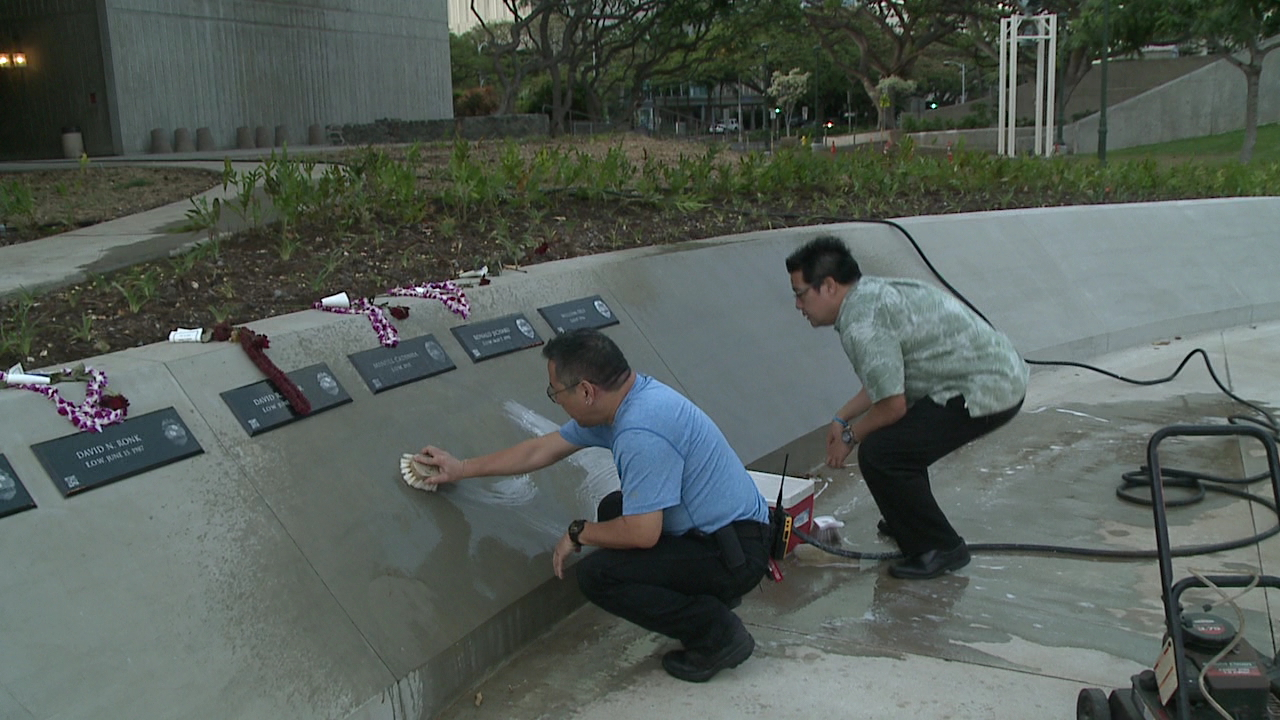 cleaning hawaii law enforcement memorial_157722