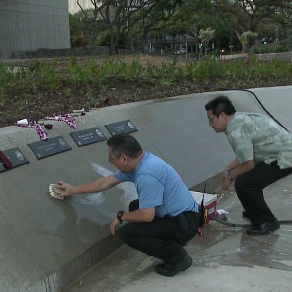 cleaning hawaii law enforcement memorial_157722