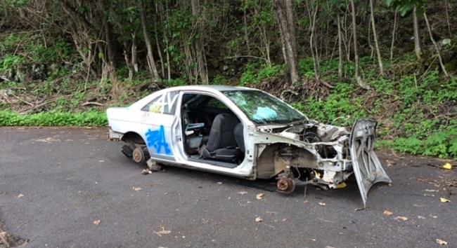 hawaii island police abandoned-car_163213