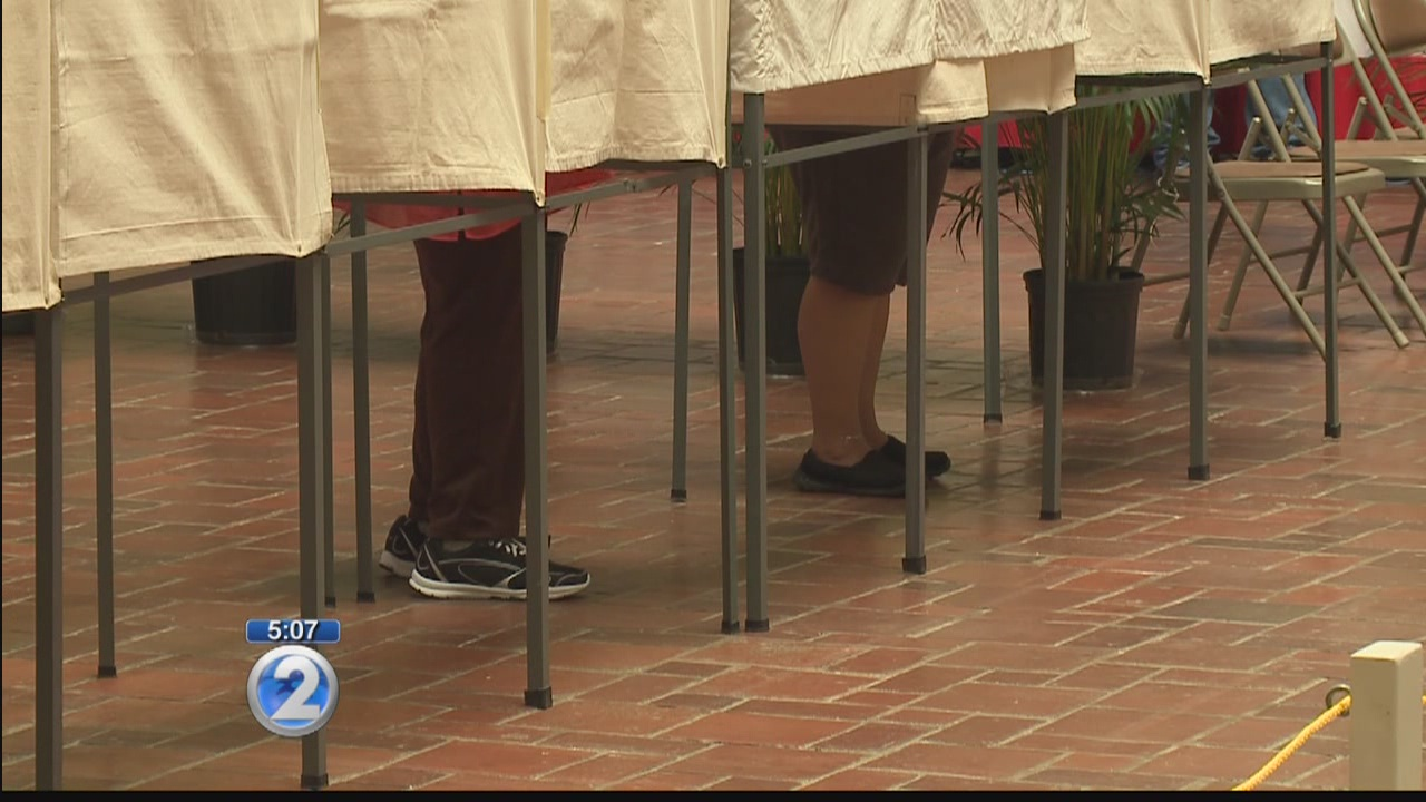 Early voting walk-in underway for the primary election