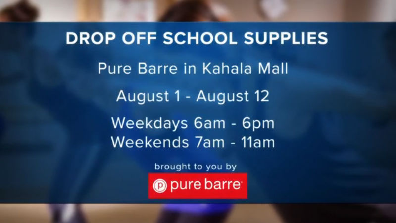 Back to School Donation Drop-off at Pure Barre