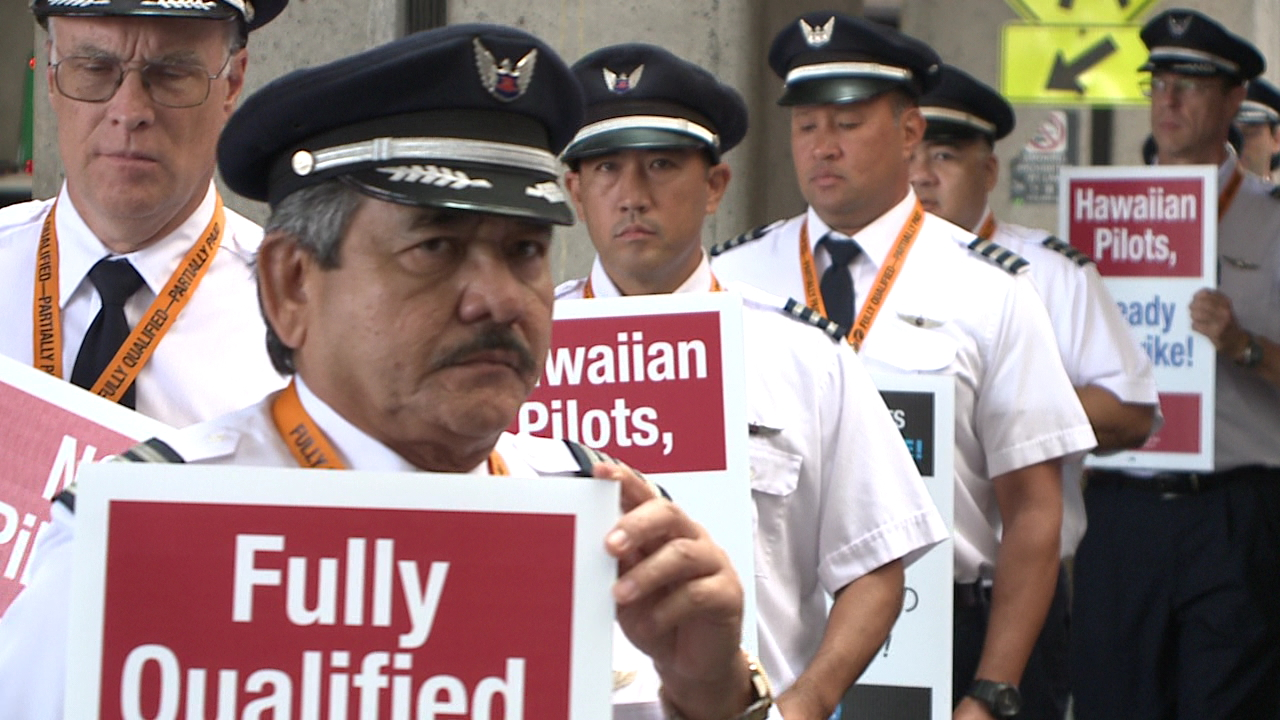 hawaiian airlines pilots picket_167514