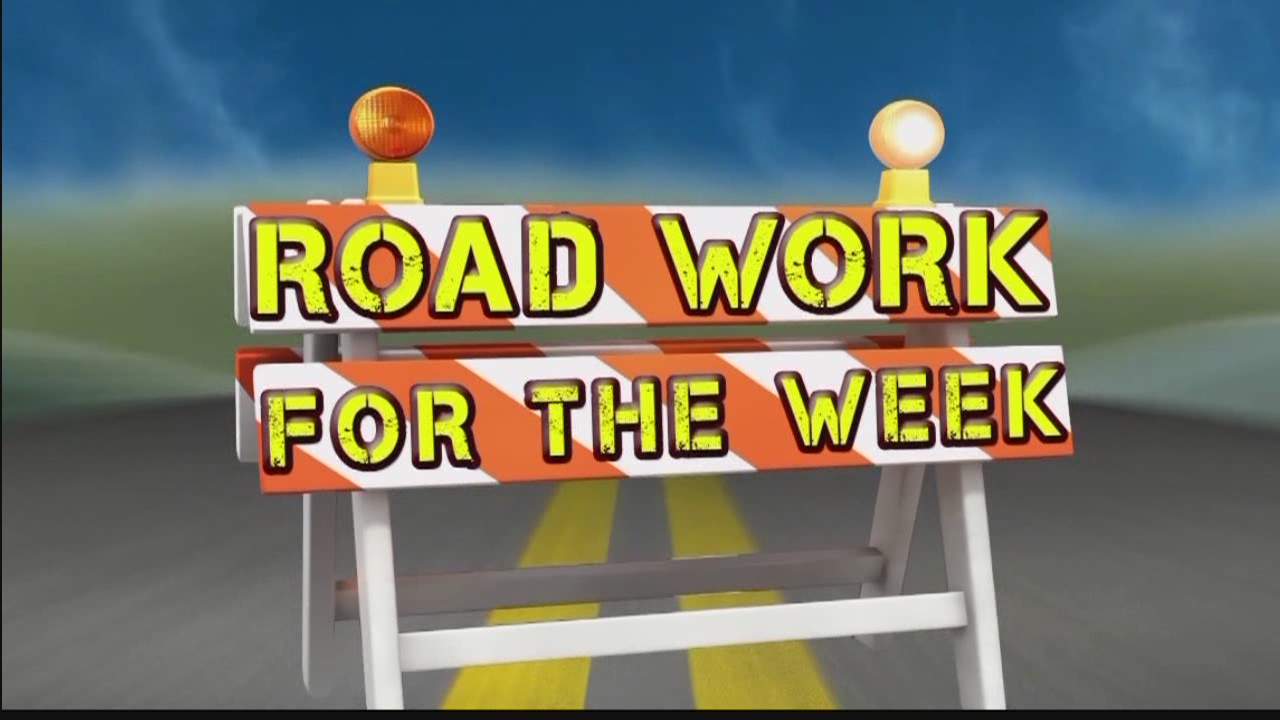 Road Work for the Week, Aug. 14-20