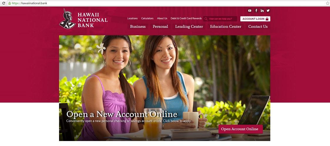 hawaii national bank website domain name_171603