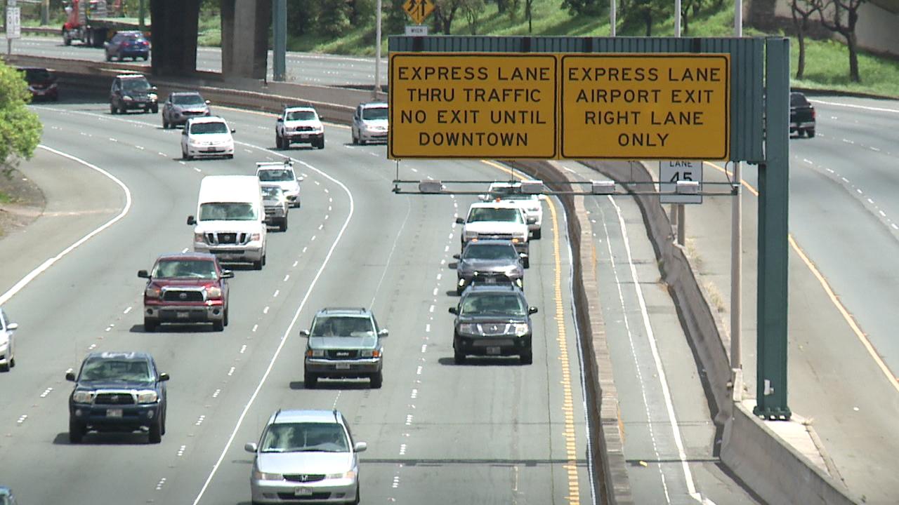 zipper lane signs h-1 freeway_169362