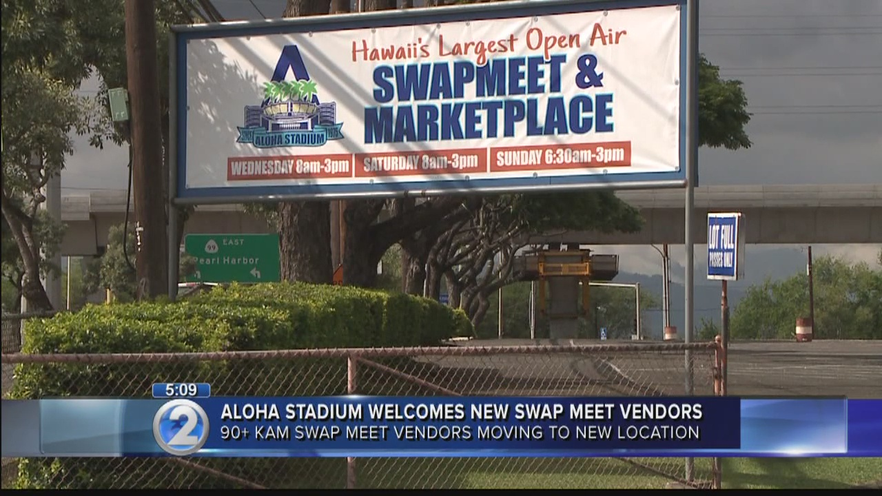 Kam Swap Meet vendors welcome to join Aloha Stadium's after closure