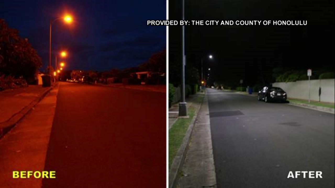 Oahu LED street light conversion