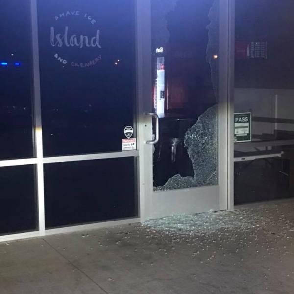 kapolei business burglary door shattered