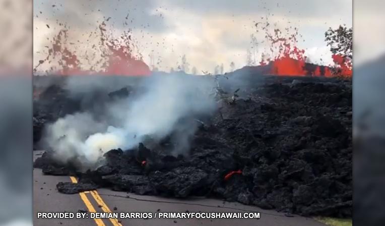 Kilauea volcano lava Leilani Estates Saturday
